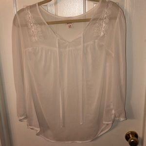 Sheer and Cream tunic